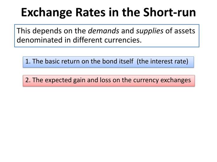 Exchange Rates in the Short-run