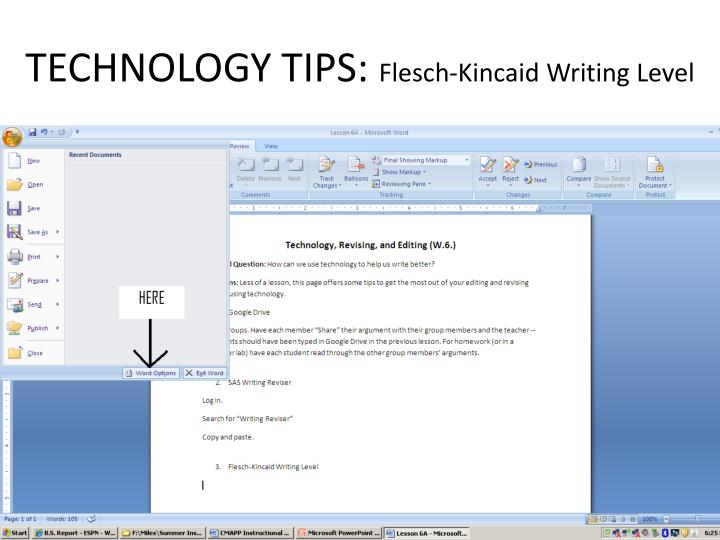 TECHNOLOGY TIPS: