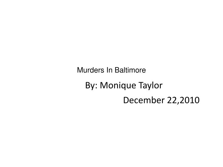 murders in baltimore