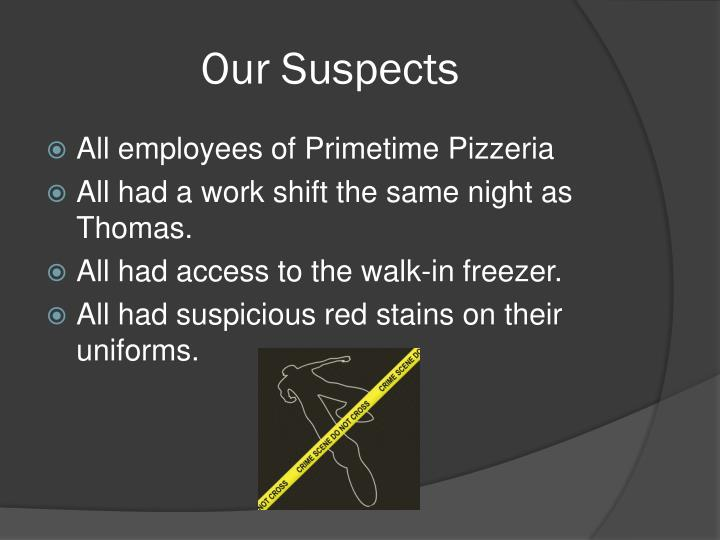 Our Suspects