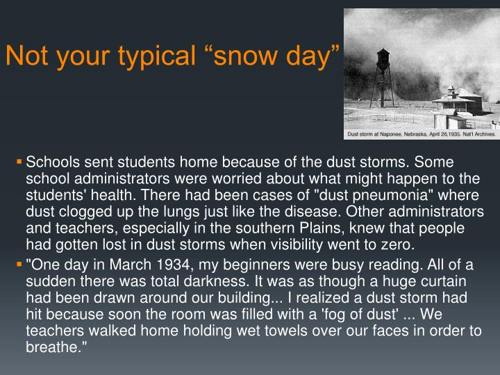 """Not your typical """"snow day"""""""