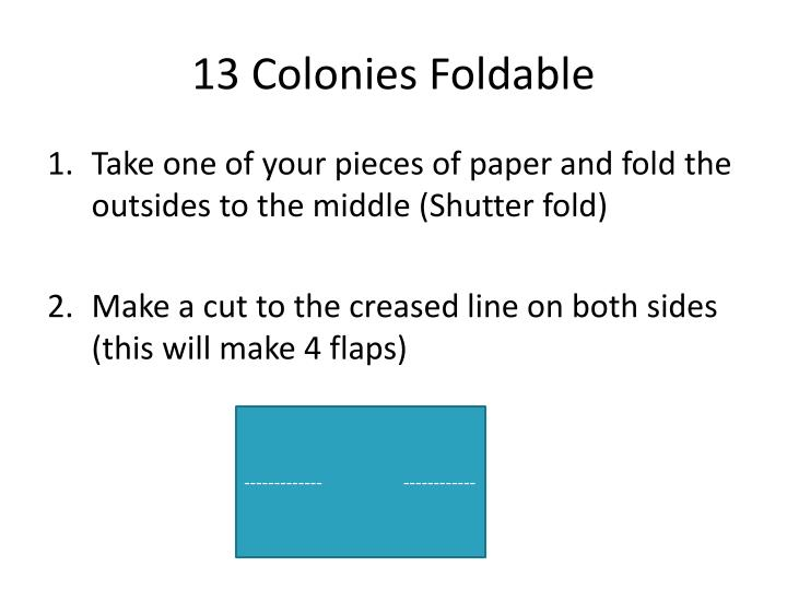 13 Colonies Foldable