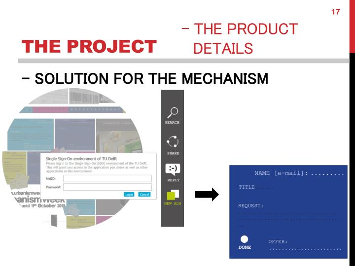 - SOLUTION FOR THE MECHANISM