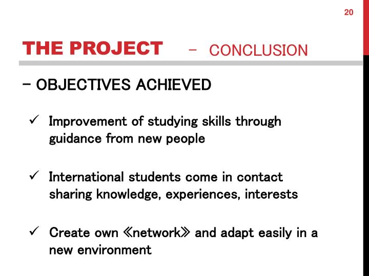 Improvement of studying skills through guidance from new people