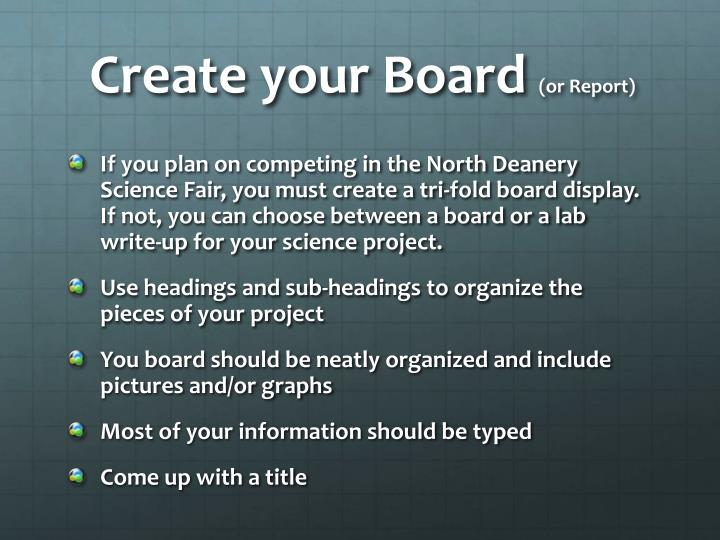 Create your Board