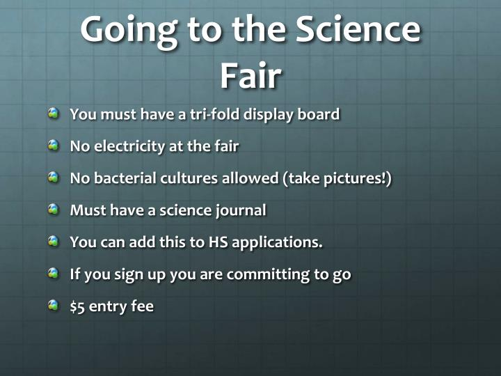 Going to the Science Fair