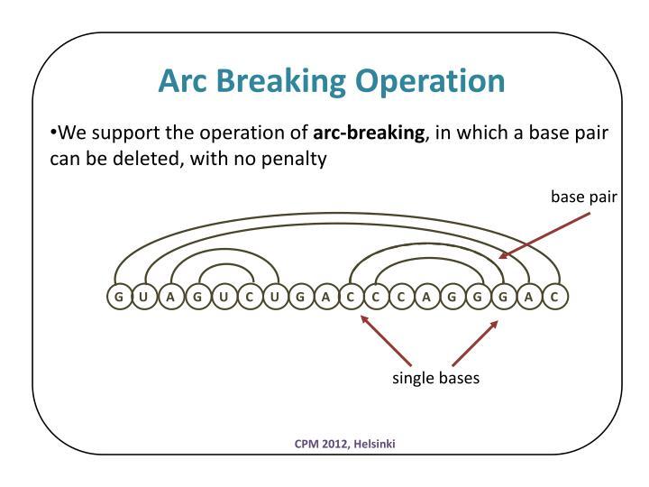 Arc Breaking Operation
