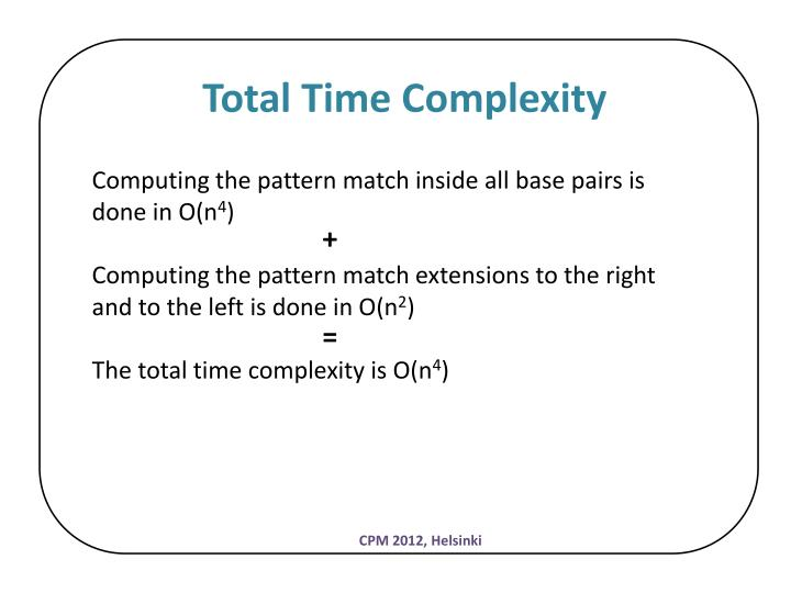 Total Time Complexity