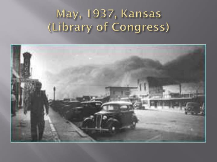 May, 1937, Kansas