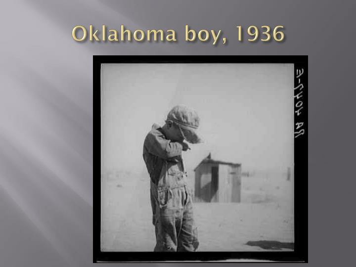 Oklahoma boy, 1936