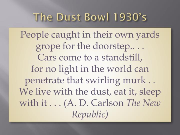 the dust bowl 1930 s