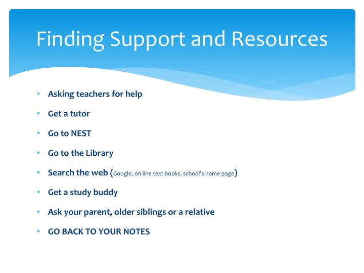 Finding Support and Resources