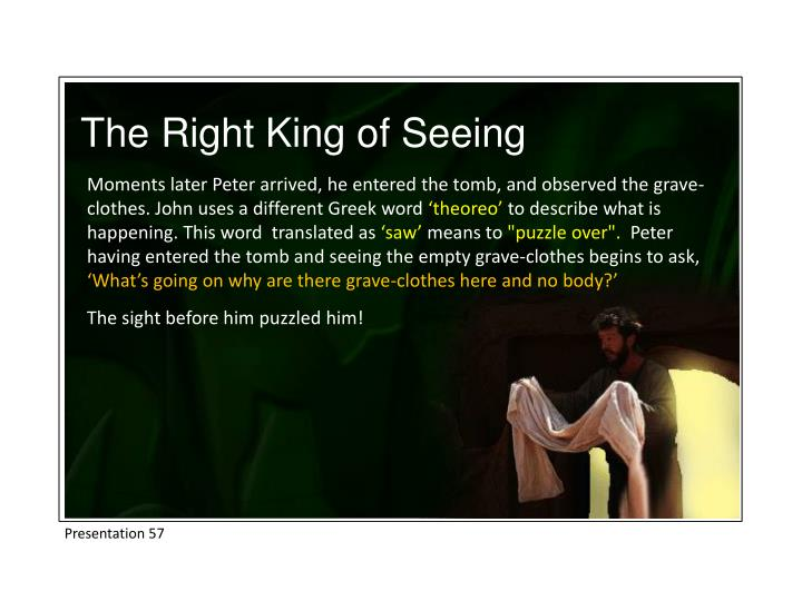 The Right King of Seeing