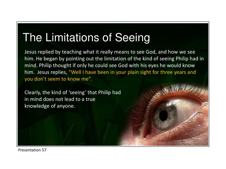 The Limitations of Seeing