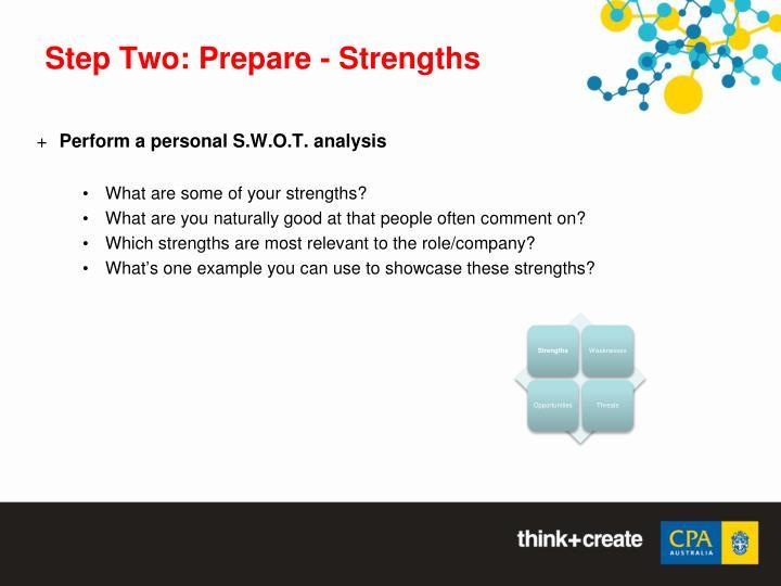 Step Two: Prepare - Strengths
