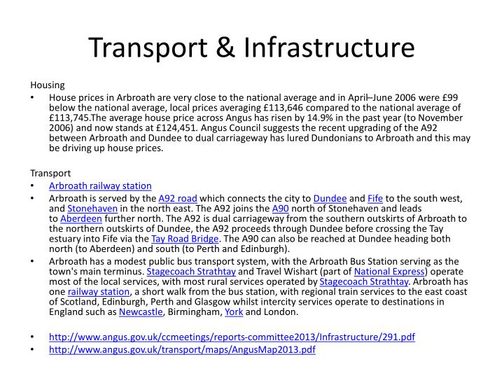 Transport & Infrastructure