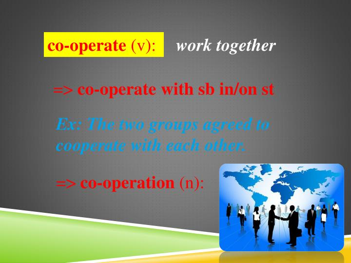 co-operate