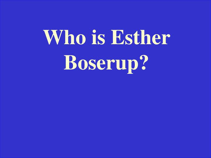 Who is Esther