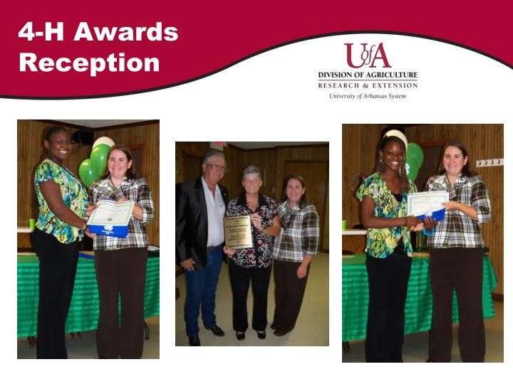 4-H Awards Reception