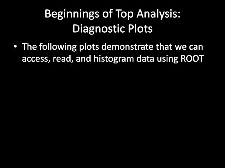 Beginnings of Top Analysis: