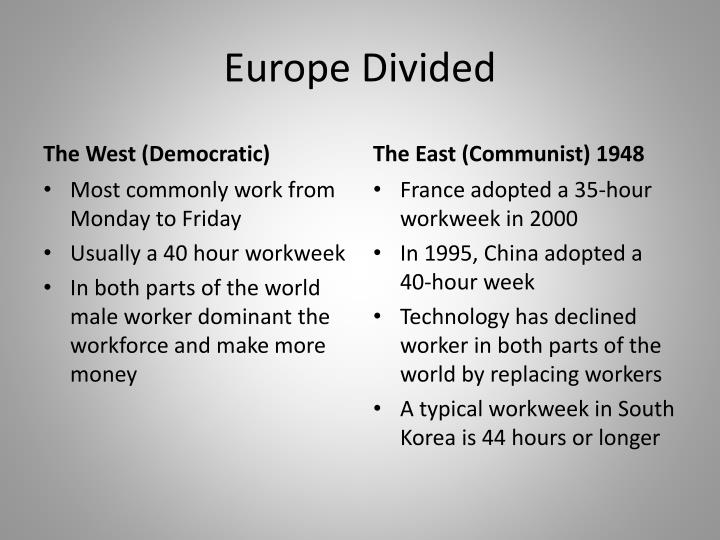 Europe Divided
