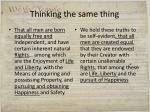 thinking the same thing
