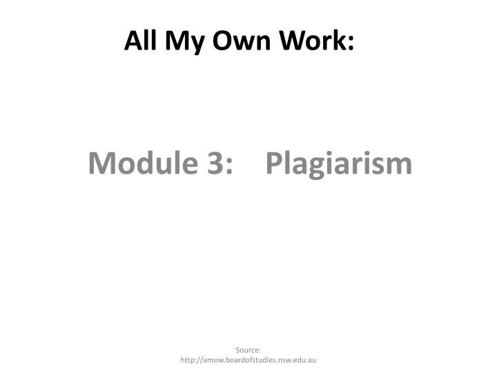 All My Own Work: