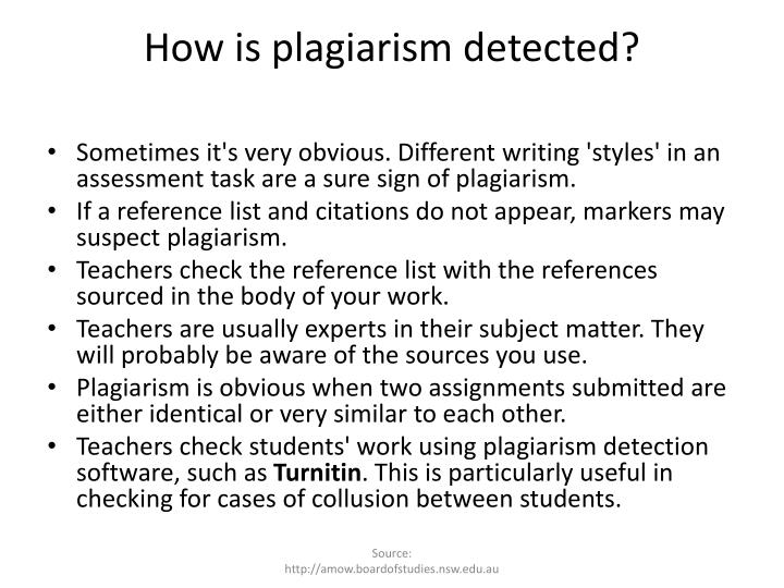 How is plagiarism detected?