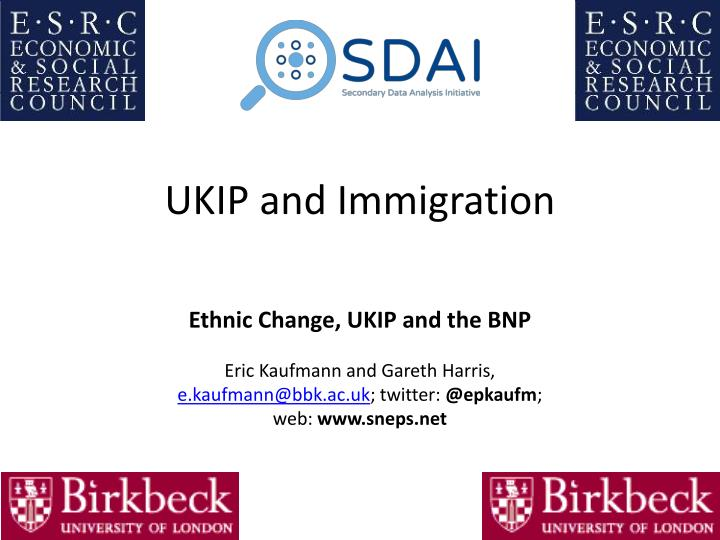 UKIP and Immigration