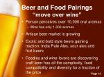 beer and food pairings move over wine