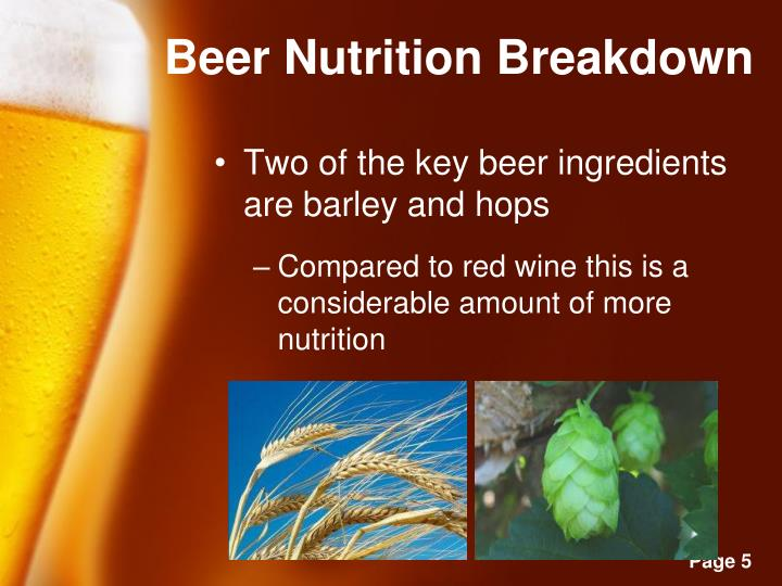 Beer Nutrition Breakdown