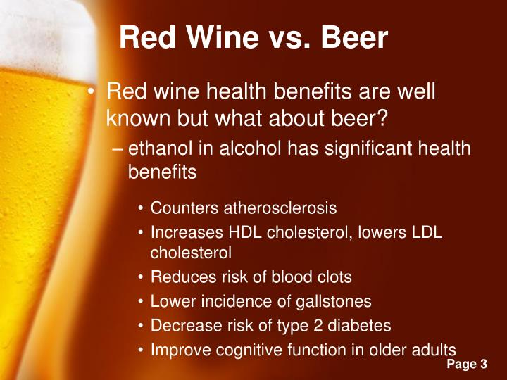 Red Wine vs. Beer
