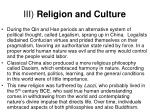 iii religion and culture1