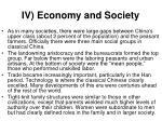 iv economy and society