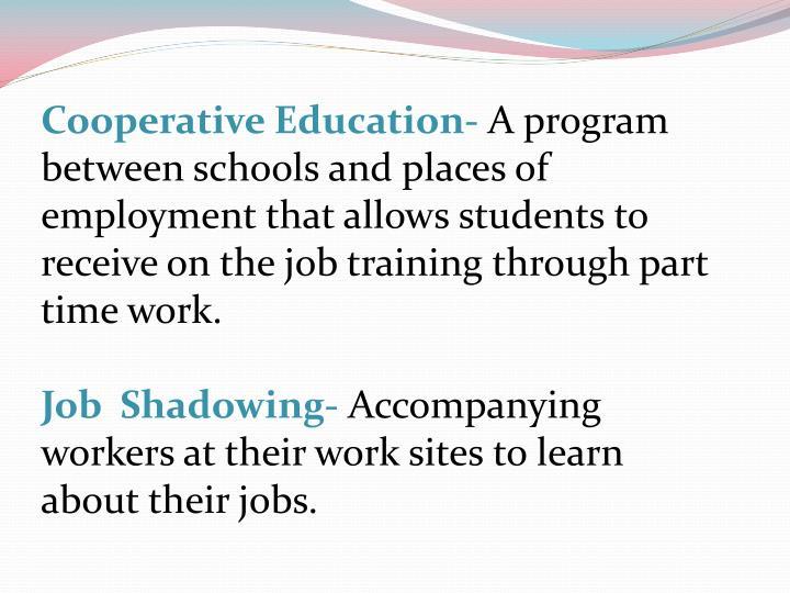 Cooperative Education-