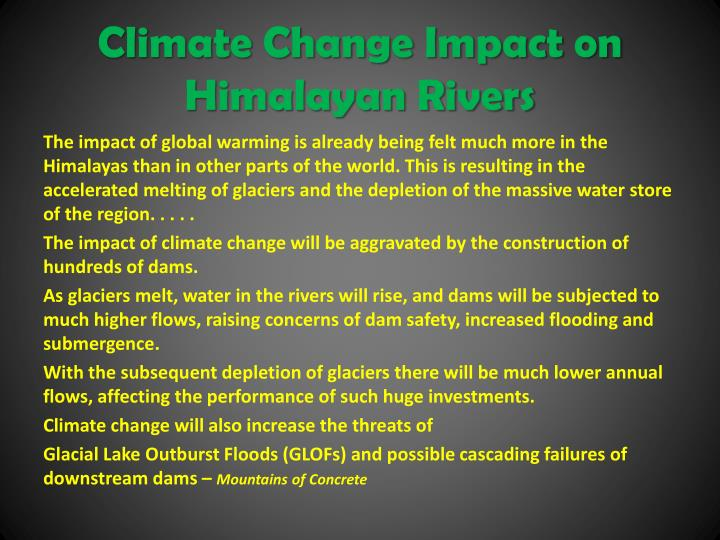Climate Change Impact on Himalayan Rivers