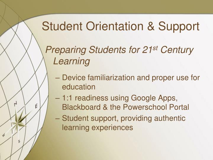 Student Orientation & Support