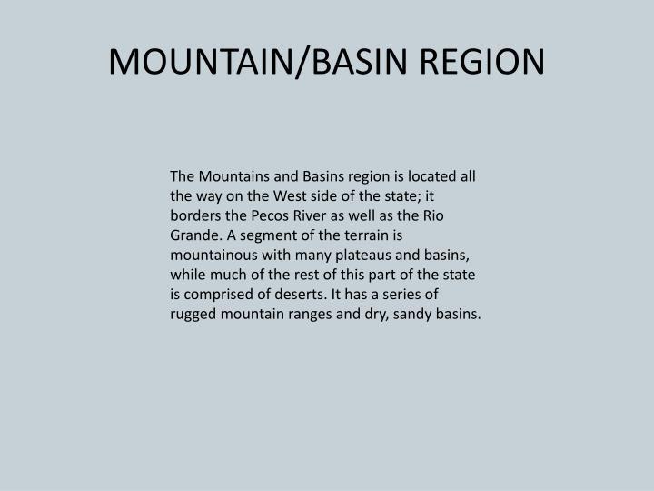 MOUNTAIN/BASIN REGION