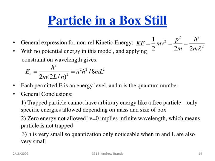 Particle in a Box Still