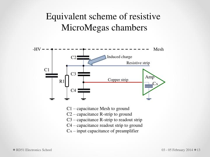 Equivalent scheme of resistive