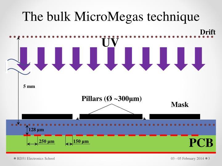 The bulk MicroMegas technique