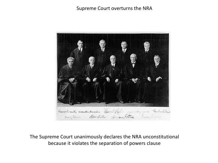 Supreme Court overturns the NRA