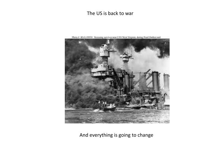 The US is back to war