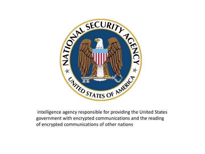 intelligence agency responsible