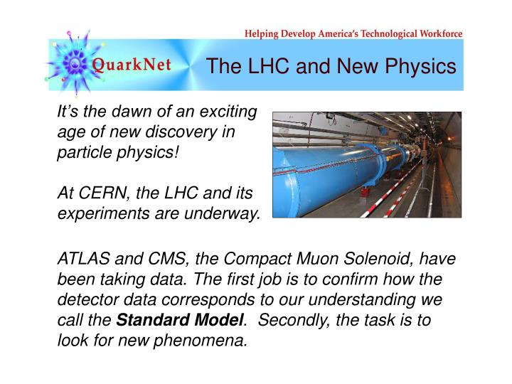 The lhc and new physics