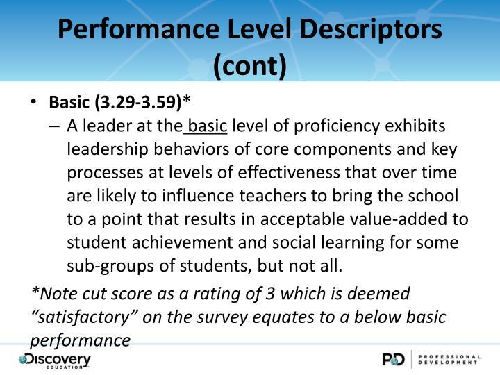 Performance Level Descriptors (