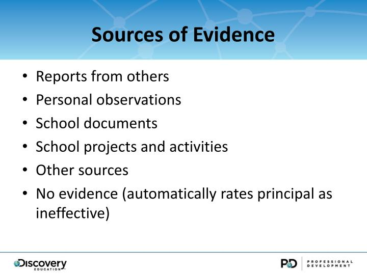 Sources of Evidence