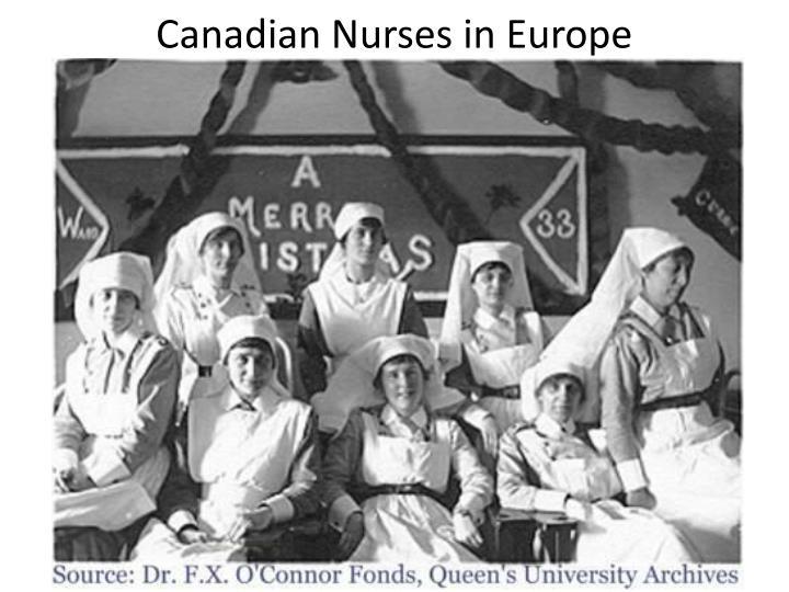 Canadian Nurses in Europe