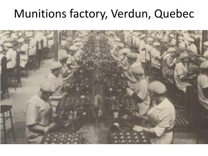Munitions factory, Verdun, Quebec