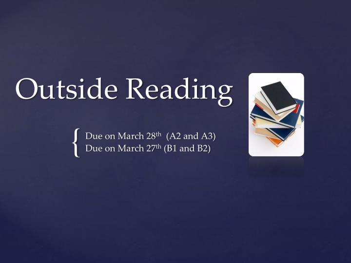 outside reading